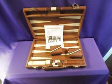 Vintage Tundra Backgammon Briefcase Game with Instructions & Book - Complete