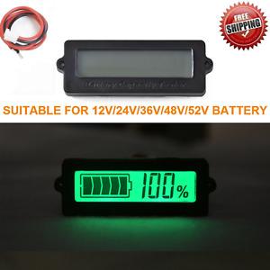 LY6 12V-52V Lead-acid Lithium-ion Battery Capacity Tester Indicator LCD Monitor