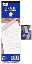 6 X PADS SHOPPING TO DO LIST NOTE MEMO WRITING BOOK WHITE 180 PAPER LINED JOTTER