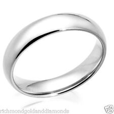 10kt Solid White Gold 7mm Size 9 Plain Men's and Women's Wedding Band Ring New