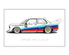 BMW 320 (1977) - Limited Edition Classic Car Print Poster by Steve Dunn