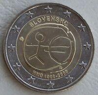 2 Euro Slowakei 2009 10 Jahre WWU unz