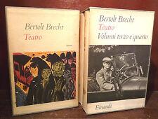 EINAUDI - Bertold BRECHT : TEATRO 1961  4 volumi in cofanetto PIcasso