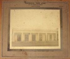 1910 Photograph: Pharmacy/Drug Store Exterior-Puerta de Golpe-Pinar del Rio-Cuba