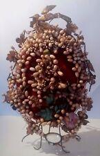 Intérieur globe de mariée Couronne fleurs en cire Antique French wax crown