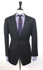 HUGO BOSS Mens Charcoal Grey Slim Fit Wool 2 Button Suit 42R 35W 33L