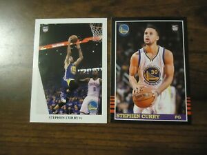 Stephen Steph Curry 2 Card Rookie Lot 1985 Donruss Style & 1990 Leaf Style