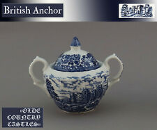 "Eine Zuckerdose H11 British Anchor ""Olde Country Castles"" England Hostess  blau"