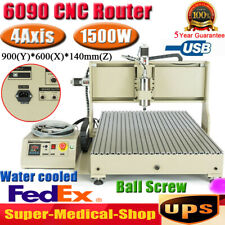 Usb 4 Axis 15kw Cnc 6090 Router Engraver 3d Metal Steel Milling Cutting Machine