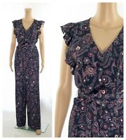 Phase Eight Jayesha Paisley Print Relaxed Self Tie Buttons Pockets Jumpsuit SALE