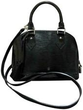 Louis Vuitton Alma BB Leather Handbag - Black