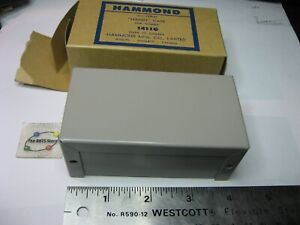 "Hammond 1411G Chassis Steel Grey 4"" x 2-1/8"" x 1-5/8"" LWH - NOS Qty 1"