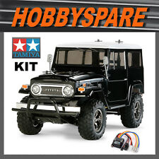 NEW TAMIYA TOYOTA LAND CRUISER 40 BLACK CC-01 RC TRUCK KIT w LED & ESC 58564