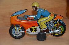 Blechspielzeug, Blechmotorrad, 70er Jahre, sehr schön, Fahrer bewegt sich!