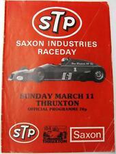 Thruxton 11th mar 1984 saxon industries abattus motor racing programme officiel