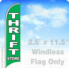 2.5x11.5' WINDLESS Swooper Feather Flag Banner Sign - THRIFT STORE gb