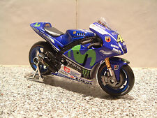 1:18 2015 MONSTER Factory Yamaha yzr-m1 Diecast Giocattolo Modellino Valentino Rossi #46