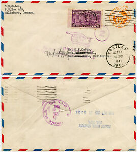 PALACE HOTEL SPECIAL DELIVERY STATIONERY 1941 WW2 RETURNED to WRITER OREGON
