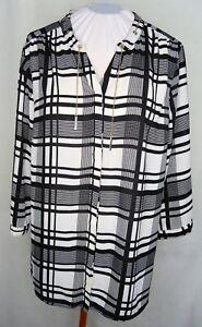 Black & White Tunic blouse XL Careerwear
