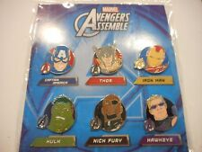 Marvel Avengers Assemble Booster Lot Of 6 Pins *****NEW*****