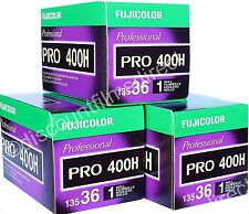 3 x FUJI PRO 400H 35mm 36 exposure CHEAP COLOUR FILM FRESH by 1st CLASS POST