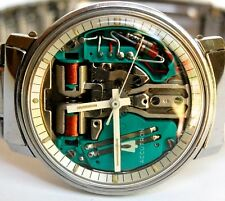 VINTAGE MENS BULOVA ACCUTRON SPACEVIEW 214 AMAZING CONDITION TUNING FORK WATCH