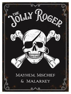 The Jolly Roger Pub Sign Small Metal Sign 200mm x 150mm (og)