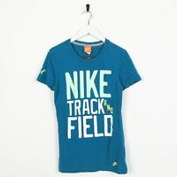 Vintage Women's NIKE Big Logo T Shirt Tee Blue | Small S