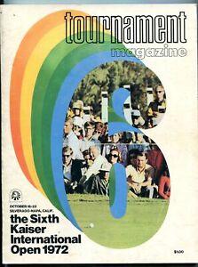 6th Kaiser International Open Golf Program- 10/16/72 PGA
