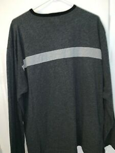 J Crew Men's Crew Neck Pullover Sweater [Gray/White/Striped ] Size Extra Large