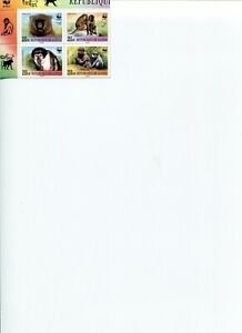 2000 WWF GUINEA Mangabey & Baboon 4V Block MNH POST FREE