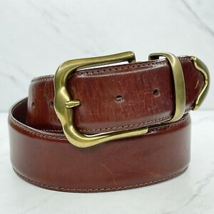 Fossil Brown Vintage Wide Genuine Leather Belt Size Medium M 28 30