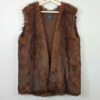 [ ZARA ] Womens Brown Faux Fur Vest / Jacket  | Size M or AU 12 or US 8