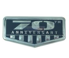 Gray 70th Anniversary Rear Trunk Badge Emblem Sticker For Jeep