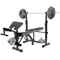Home Fitness Dumbbell Weight Bench Barbell Lifting, Folding Adjustable Bench