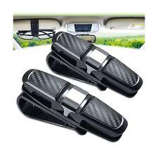 1 Glasses Holder for Car Sun Visor Clip 2 Pack Double Sunglasses Eyeglasses