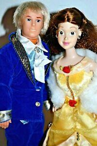 Disney Store Original Beauty & The Beast Belle Doll Winter Ed,  Beast Prince