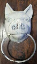 Vtg Cast Iron- Pig Head Towel Ring Holder☆ Rustic/Shabby Primitive Farmhouse ☆☆☆