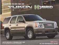 2008 GMC Yukon Hybrid Dealership Showroom Ad Flyer - Rarer than Brochure