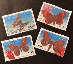 GRENADA THE WORLD OF MOTHS STAMPS SET 4v 2001 MNH INSECT BUG PINE EMPEROR FLOWER
