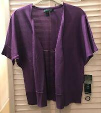 Ralph Lauren Women's Purple Shrug Size Small