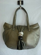 "SAC A MAINS CUIR BRONZE DORE  ""HEYRAUD""  LEATHER HAND BAG"