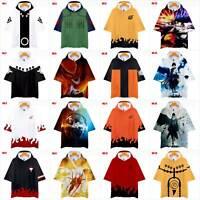 Anime NARUTO0 3D Printed Hoodie T-shirt Men/Women Casual Hooded Short Sleeve Tee