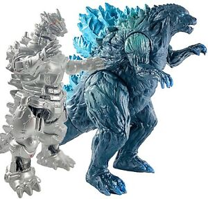 """Brand New Set of 2 Big Godzilla Toy King of The Monsters, 15"""" & 12"""" Head-to-Tail"""