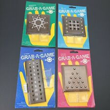 NEW Vintage Travel Tic-Tac-Toe Strategy Puzzle 80s USA Rare Wood - Lot of 4