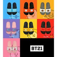 BTS BT21 Official Authentic Goods Silicone Slippers 220~250mm + Tacking Number