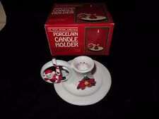 """Vintage """"The Night Before Christmas"""" Porcelain Candle Holder"""