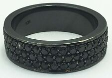 ETERNITY 3.50 cts BLACK DIAMONDS 10k Black Gold Ring *COMES WITH FREE APPRAISAL*