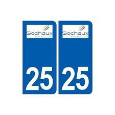 25 Sochaux logo autocollant plaque stickers arrondis