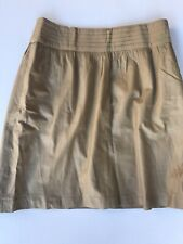 etcetera Womens Leather Skirt Size 6 Brown  Pre-owned